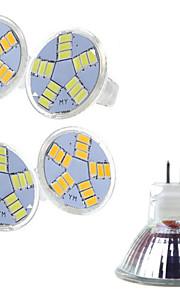 5 stk. Ding Yao 7 W 15 SMD 5730 400-500 LM 2800-3500/6000-6500 K Varm hvit/Kjølig hvit MR11 Spotlys AC 12 V