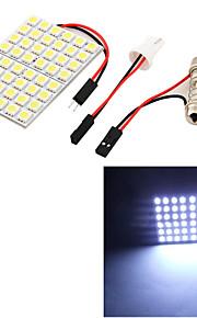 youoklight® 1pcs t10 / girlander 9w 500lm 48 x smd5050 ledet hvitt lys bil leselys / panel lys - (12v)