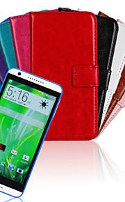 HTC 욕망에 대한 스탠드와 카드 슬롯이있는 솔리드 컬러 PU 가죽 전신 케이스 (820) M8 M9 m8mini (모듬 된 색상)