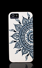 För iPhone 5-fodral Mönster fodral Skal fodral Mandala Hårt PC iPhone SE/5s/5