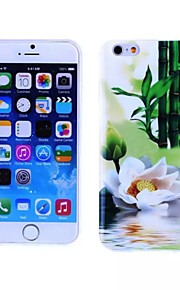 Lotus Pattern TPU And IMD Soft Case for iPhone 5/5S