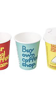 DIY ledet miljøvern papir cup lampe nattlys (tre stk per sett)