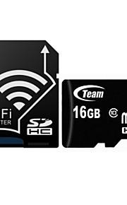 TEAM TF(Micro-SD) Card Class10 (16GB) TUSDH16GCL Memory Card With WIFI SD Adapter