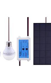 3.3watt ledet solcellepanel 2x2.4w kald hvit 2x240lm ledet pære 6-8h arbeidstid for reise / nødsituasjon ledet solens lys