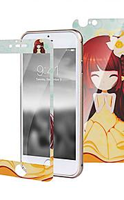 prova de arranhões inverno jasmine menina brilho hd antes película de proteção de vidro para Iphone 6