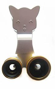 3-i-1 mobiltelefon universell fisheye vidvinkel makro klipp telefonen plug-in för mobiltelefon kamera