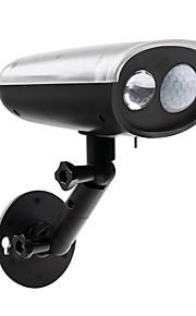 vanntett solar spotlight med bevegelsessensor 250 lumen trådløs lys utendørs LED lys for verftet hage trapper veggen