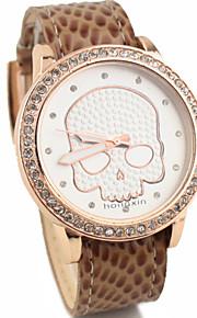 kvinders mode stil skelet quartz analog armbåndsur
