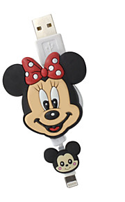 disney Minnie Maus faltbare Ladekabel für iPhone 5 g / 5s / 5c / 6 / 6plus ipad 2 ipad mini Luft