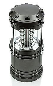 bærbare og sammenlegg 30led camping lanterne, ekstremt lyse og lette lommelykter svart