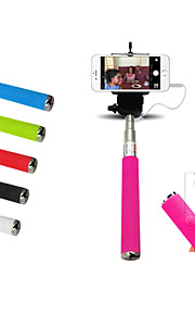 3.5mm Wired Selfie Stick Handheld Telescopic Holder w/ Built-in Shutter for Smart Phone Samsung S6 iphone 5/5S/6/6plus