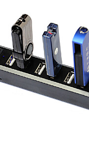 7-poorts high speed usb 2.0 hub individuele schakelaars, blauwe LED-indicator