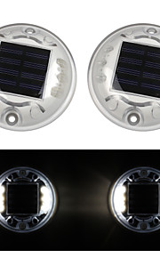pakke med to solar 6-ledede utendørs road oppkjørselen dock banen bakken lys lampe