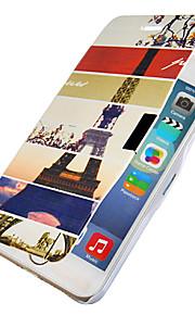 Eiffeltornet mönstret magnetisk flip hela kroppen fallet med hål för iphone 6 plus