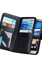 드 지 지갑 PU (9) 카드 슬롯 (모듬 색상)와 HTC의 M9 가죽 케이스