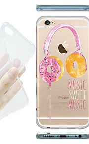 MAYCARI® Sweet Music Transparent Soft TPU Back Case for iPhone6