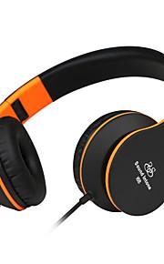 entonner son i68 pliage léger 3,5 mm, stéréo plus écouteurs intra-auriculaires écouteurs extensibles portables cuir coussinet