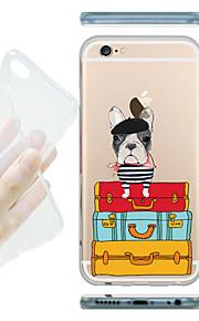 MAYCARI® Baggage Clerk Transparent Soft TPU Back Case for iPhone 6