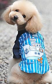 Blå/Rosa - Bröllop/Cosplay - Bomull - T-shirt - till Hundar/Katter