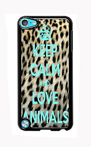 Keep Calm and Love Animals Design Aluminum High Quality Case for iPod Touch 5