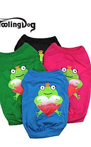 Röd/Svart/Grön/Blå Bomull - T-shirt - till Hundar/Katter