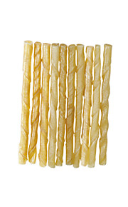 Natural Rawhide Twist Sticks for Dogs