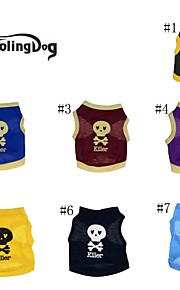"""DroolingDog® """"Cool Skull"""" Pattern Cotton Vest for Dogs (Assorted Colors Assorted Sizes)"""