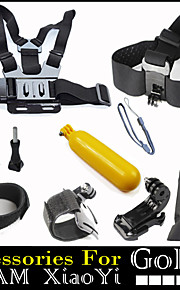 10 in 1 Set with Chest Head Strap Floating Bobber for GoPro Hero 1234 Xiaomi Yi SJCAM Sport Camera