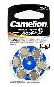 Camelion Zinc Air Hearing Aid Button Cell A675 (6 PCS)