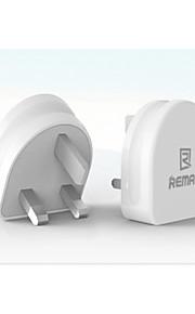 remax caricatore rmt7188 luna uk spina 2.1a 5v doppio usb efficiente ricarica veloce