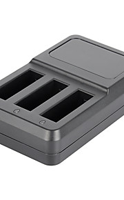 Super Mini 3-Slot Battery Charger for GoPro Hero 4