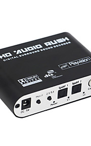 oTime OT-6RA DTS / AC-3 Audio Decoder w/ 5.1 Channel Output - Black (EU)