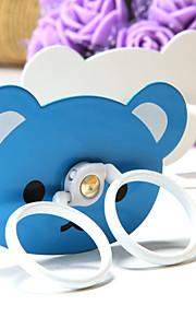 squillare il telefono cellulare bianco e blu modello dell'orso kicstand metallo per Samsung