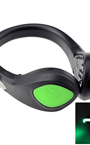 Portable Bike Cycling Sports Shoes Wrist Safety Signal LED Light Clip - Assorted Colors (2 x CR2032)