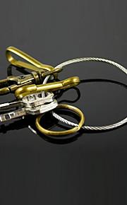 3-i-1 rustfrit stål ring nøglering ring QuickDraw edc værktøj
