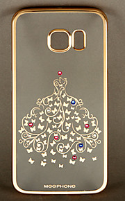 MEEPHONE Elegant Series Butterfly Pattern PC Back Cover Case for Samsung Galaxy S6 edge