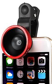 löstagbar 220 graders vidvinkelobjektiv med universell klipp för iphone 6plus / 6/5 / ipad och andra (blandade färger)