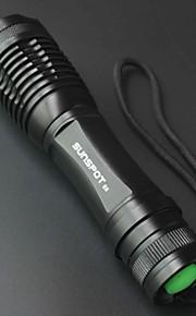 SUNSPOT E6 5 Mode 800 Lumens Handheld Flashlights 18650 Adjustable Focus / Rechargeable /  High Power LED Cree T6
