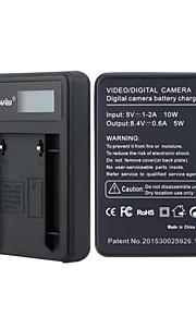 batterioplader med skærm til JVC VF808 sort