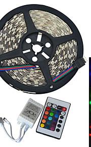 JIAWEN® 5 M 300 5050 SMD RGB カット可能 / 接続可 60 W フレキシブルLEDライトストリップ DC12 V