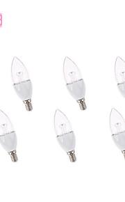 6個JS E14 / E12 3.5 6 * SMD 3535 260 LM温白色/クールホワイトC装飾キャンドル電球AC 85から265 Vのw