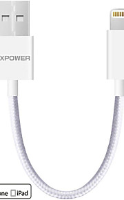 apple mfi certifierad dx-kabel blixtar till USB-kabel ultrakompakt kontakt chef för iphone 6s 6plus 5s 5c 5 ipad luft