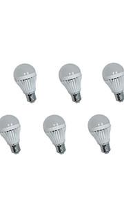 6個のjs 10 * SMD 3535 400ルーメンワットE26 / E27 5暖かいホワイト/クールホワイト装飾グローブ電球AC 85から265 V