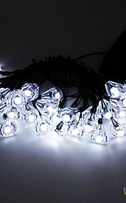6.5m 30led solenergi diamant streng lys fint fest decortation lights