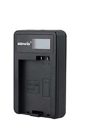 camera acculader met het scherm voor Canon LP-E8 zwart