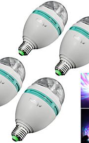 4個 YouOKLight E26/E27 3 W 3 ハイパワーLED 300 LM RGB B 装飾用 LEDステージライト AC 85-265 V