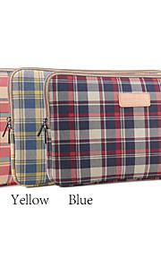 13 '' 14 '' 15 '' plaid mønster beskyttende hylster bærbar computer taske (assorterede farver)