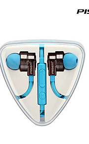pisen의 고음질는 인 - 이어 삼성 원격으로 평면 와이어 꼬임이없는 헤드폰 이어폰