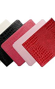 ensfarvet krokodilleskind mønster pu læderetui dækning for iPad Mini 1/2/3 (assorterede farver)