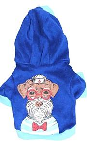 Hunde - Winter - Baumwolle - Modisch - Blau - Kapuzenshirts - XS / S / M / L